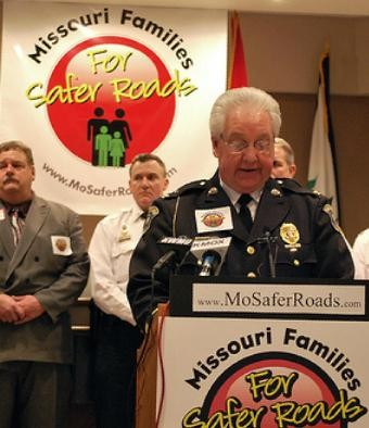 Hazelwood Police Chief Carl Wolf launches Missouri Families for Safer Roads in 2009. - MOSAFERROADS.COM