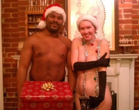 Wraith and Holliday during a 2011 Fleshtivus party. (Yes, Wraith's dick is in a box.)