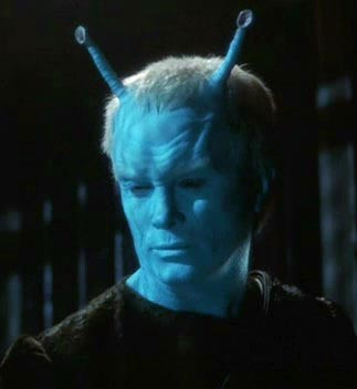 Jeffrey Combs as an Andorian, one of the aliens Lewis had a large part in creating.