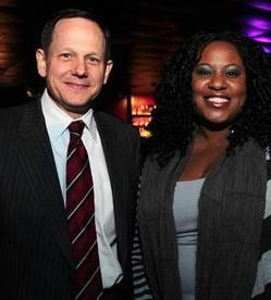 The mayor and an attendee at last night's RFT Web Awards. - PHOTO: EGAN O'KEEFE