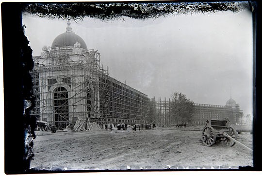 Rare image of construction of World's Fair, c. 1900. - COURTESY OF JOHN FOSTER