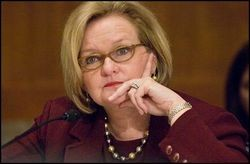 Who will face off against Senator McCaskill in November 2012?