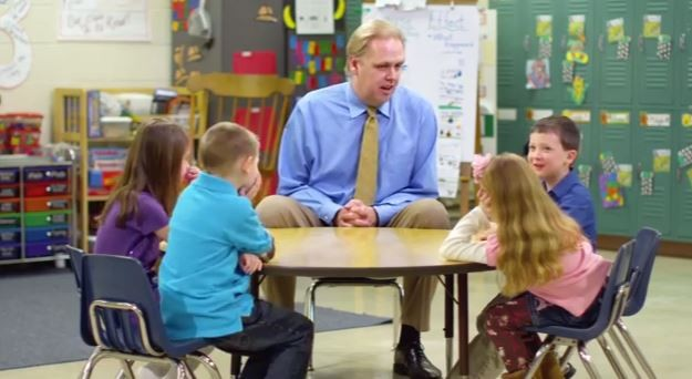 George Weber talks gas mileage with kids. - YOUTUBE