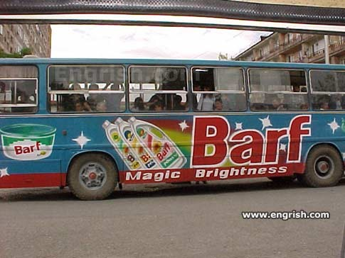 They advertise it on buses. What a country! - IMAGE VIA