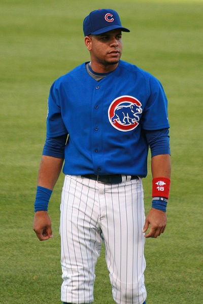 Ramirez, wearing baseball's version of the scarlet A on his chest. - COMMONS.WIKIMEDIA.ORG