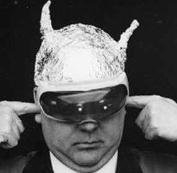 Not only does foil disrupt communications, but it makes a dandy disguise as well.