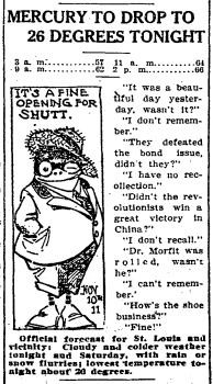 But nobody could say they weren't warned. From the P-D of November 10, 1911. - COURTESY ST. LOUIS POST-DISPATCH