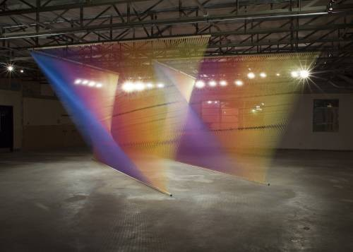 Part of Gabriel Dawe's Plexus series, opening Saturday at the Luminary Center for the Arts during the City Wide Open Studios Tour. - KEVIN TODORA