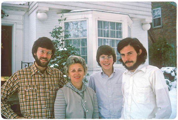The Franzen family, Thanksgiving, 1975. Jonathan is second from the right. - IMAGE VIA