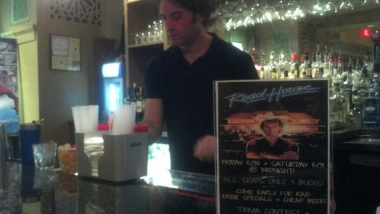 Moolah bartender Sean McElroy fixes a drink. - ALLISON BABKA