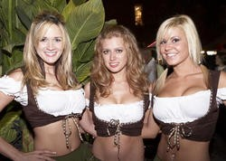 These ladies and their lederhosen may be leaving Soulard in 2010 - PHOTO BY STEVE TRUESDELL