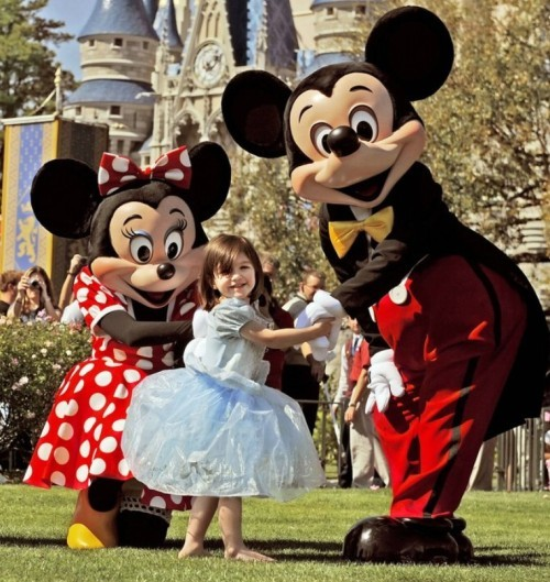 Or maybe a sad kid just needs a trip to Disney World and a pretty, pretty princess dress, just like Suri Cruise's. - IMAGE VIA