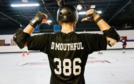Roller Derby nicknames are common, but not required. Others include: Specs Offender, Bow-Tie Fighter, Debaucherous Prime and  Gnat King Kill. - CAROLINE YOO