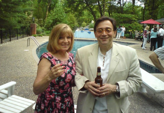 """Trudi and her husband at a neighbor's daughter's graduation party.  It was so kind of them to invite us - this is what I mean about St Louis hospitality,"""" she says. - COURTESY OF ALEXANDER."""
