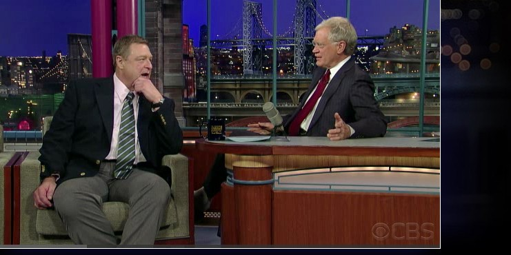 Goodman on Letterman. Click for larger version.