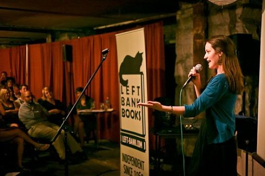 The new incarnation of the city's urban story slam met at Bridge on Locust last week after divorcing the New York-based entity it was previously tied to. - IMAGE VIA