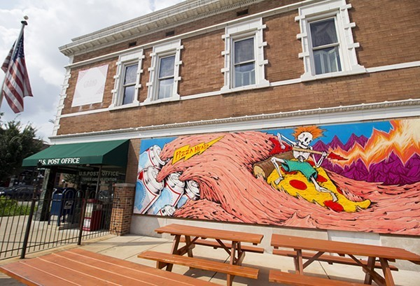 One of Spencer's murals, on the side of Pizza Head. - MABEL SUEN