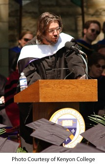 David Foster Wallace delivering the commencement address at Kenyon College in 2005. - IMAGE VIA