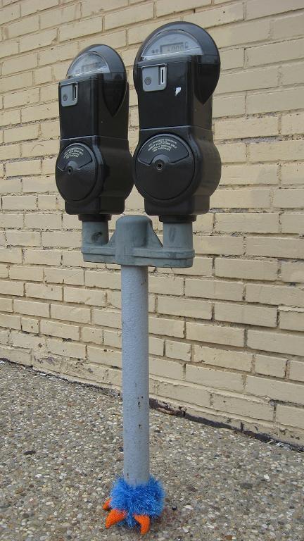 Tivoli parking meters done got yarnbombed. - PHOTO BY NICHOLAS PHILLIPS