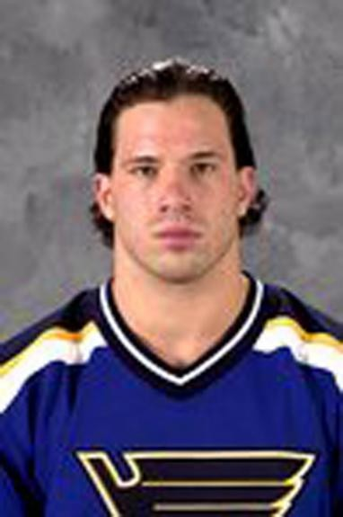 Danton during his stint with the Blues in the '03-'04 season.