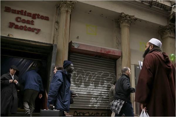 An abandoned Burlington Coat Factory near Ground Zero? That's just wrong. - IMAGE VIA