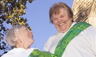 "Priests-to-be Rose Marie ""Ree"" Hudson and Elsie McGrath"