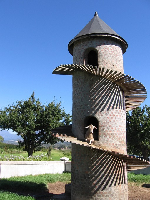 The Fairview Winery goat tower: the original, the mother of all goat towers. - FLICKR.COM/PHOTOS/GNUF