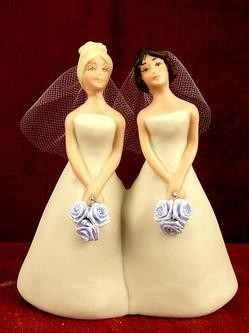 I'd rather post a lesbian wedding cake topper than have another picture of the WBC on the blog.