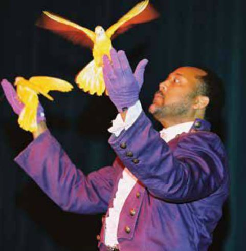 "As ""ICE,"" McDonald wows crowds with his flair for producing birds from nothingness. - VIA"