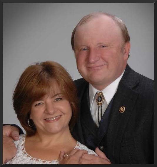 Chuck Purgason, his bolo tie, and his lady. - PURGASONFORSENATE.COM