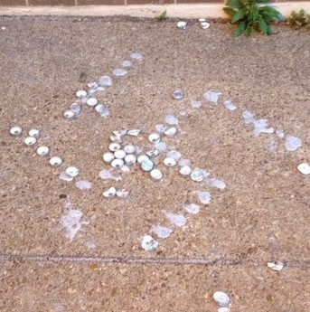 A swastika found two weeks ago on campus. - COURTESY OF RYAN MCKINLEY
