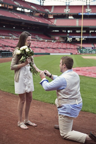 He puts a ring on it at Busch Stadium. - SWITZERFILM