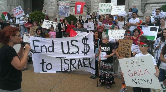Activists organized last summer to protest the war in Gaza. The same activists are now mad at the Missouri History Museum. - RAY DOWNS