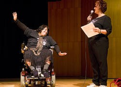 DP performer Ana Jennings and director Joan Lipkin. - JENNIFER SILVERBERG
