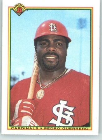 PEDRO GUERRERO BASEBALL CARD VIA