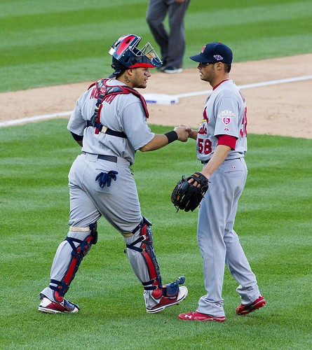 Yadi says: If you make a bet, you have to shake on it. - KEITH ALLISON ON FLICKR