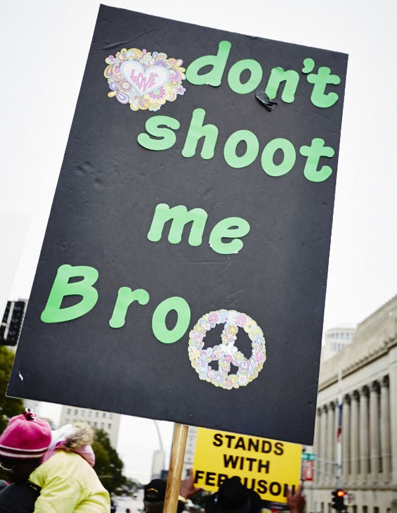 Don't tase me, sure, but really don't shoot me, bro.