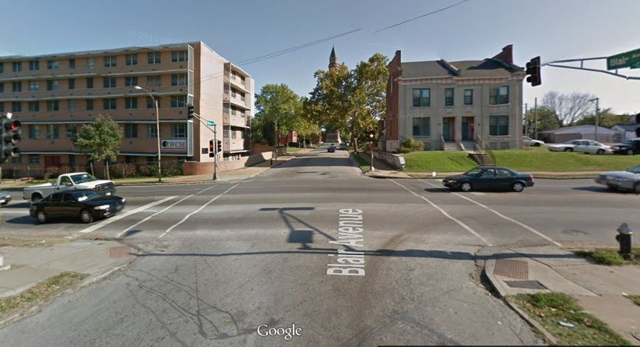 The intersection of Blair and Grand, where the shooting occurred. - GOOGLE MAPS