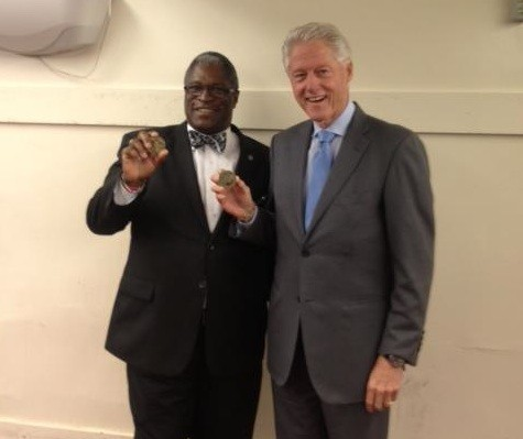 Kansas City Mayor Sly James with Bill Clinton. - VIA MAYOR SLY JAMES FACEBOOK
