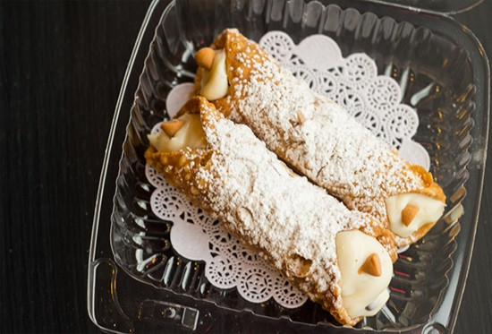 """It's Italian tradition -- If you go into someone's house, you never say no to a cannoli,"" Esquivel says."