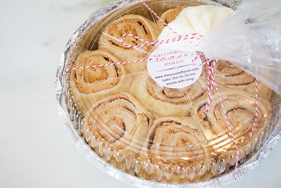 """""""Grandpa's Cinnamon Rolls,"""" proofed and ready to bake."""
