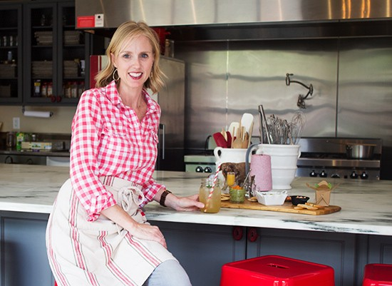 Chef Kelly Spencer in her kitchen.