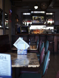 The interior of Hooked Seafood Bar - JENNIFER SILVERBERG