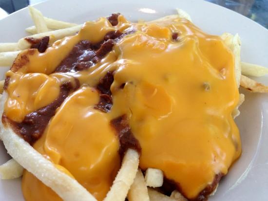 The chili-cheese fries from Joe's Chili Bowl. - EVAN C. JONES