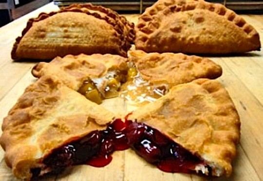 A variety of pies from the Original Fried Pie Shop. Start your own franchise now!