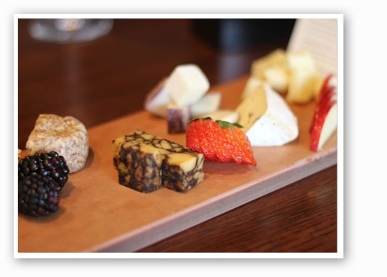 The cheese and fruit board. | Nancy Stiles