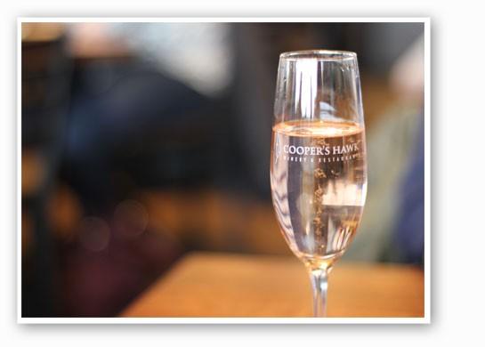 The sparkling peach wine. | Nancy Stiles