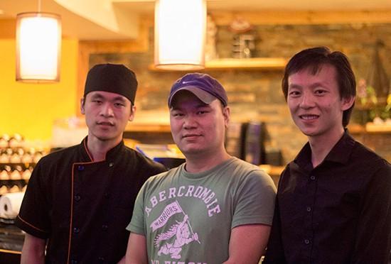 Sushi Bistro business partners Andy Chi, Zhenkun Lin and Jimmy Li. - MABEL SUEN
