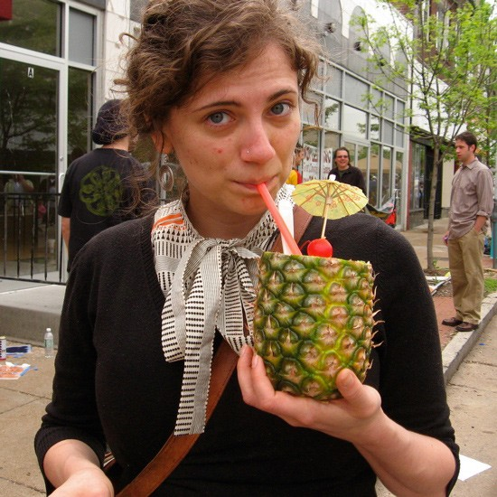 It's a margarita. IN A PINEAPPLE! - IMAGE CREDIT