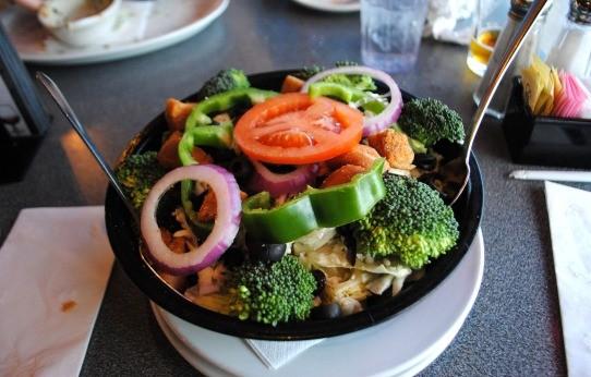 Garden salad with creamy pepper Parmesan dressing. - JULIA GABBERT